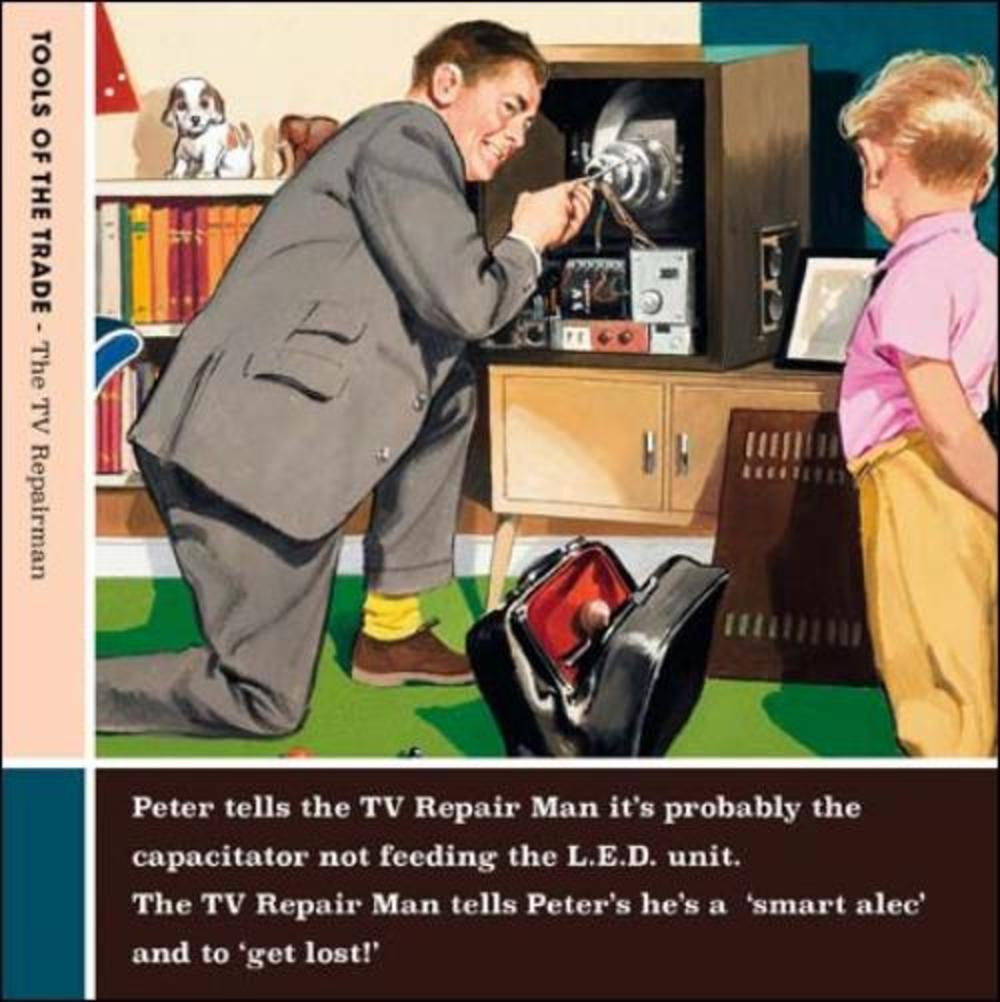 TV Repair Man Funny Tools Of The Trade Greeting Card