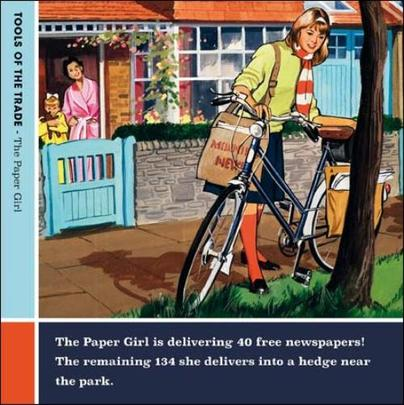 Paper Girl Funny Tools Of The Trade Greeting Card