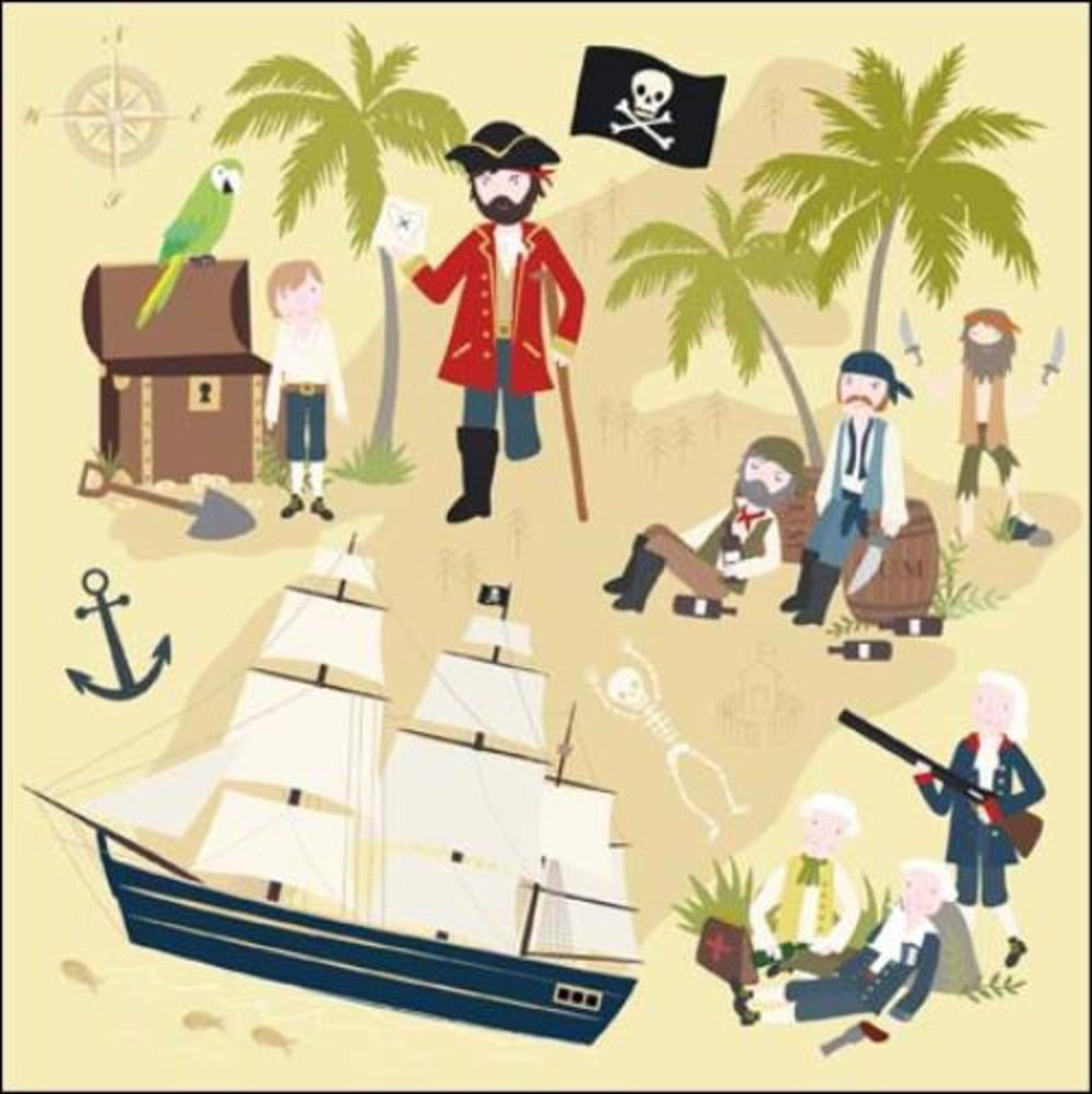 Once Upon A Time Treasure Island Greeting Card
