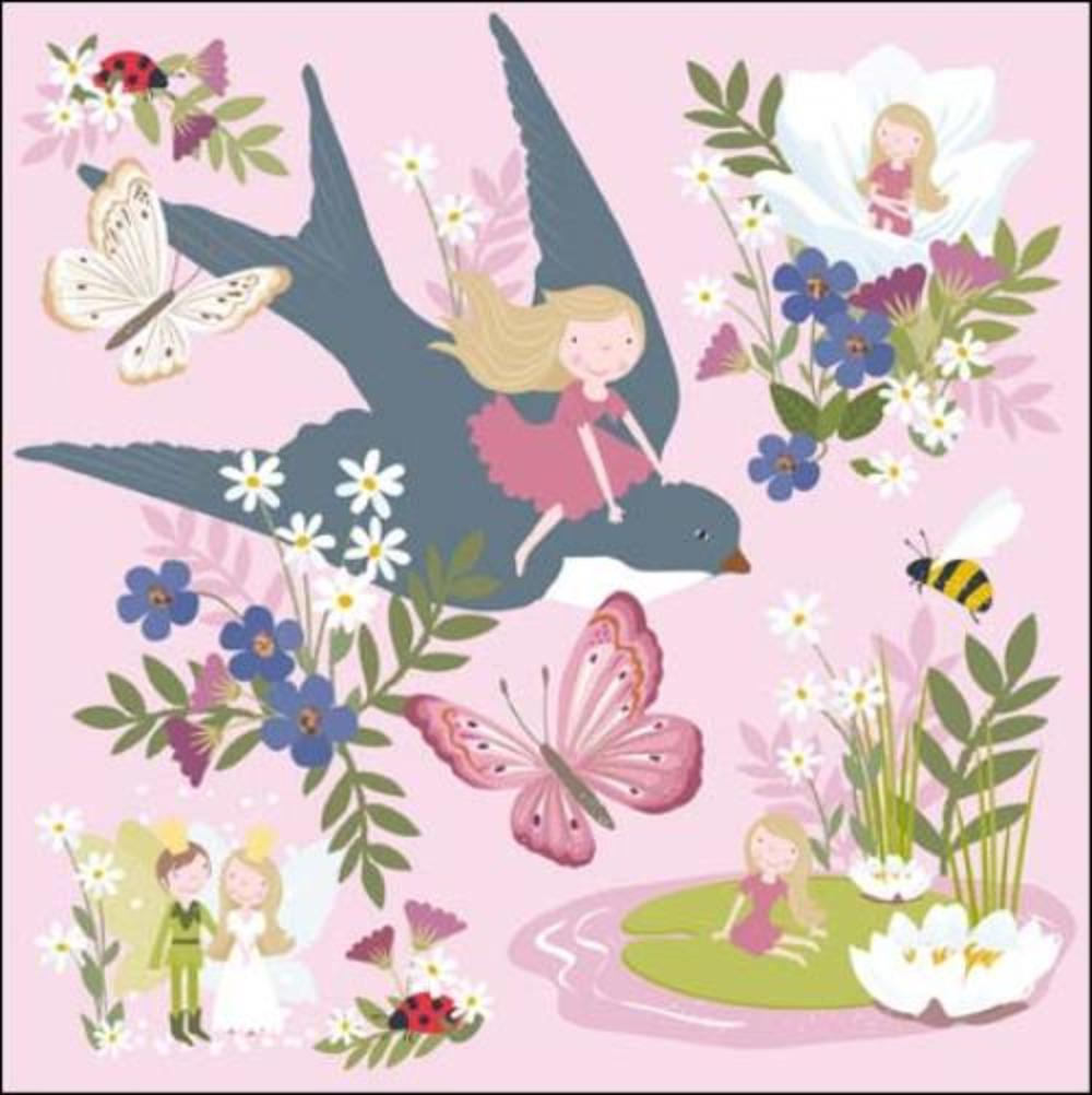 Once Upon A Time Thumbelina Greeting Card