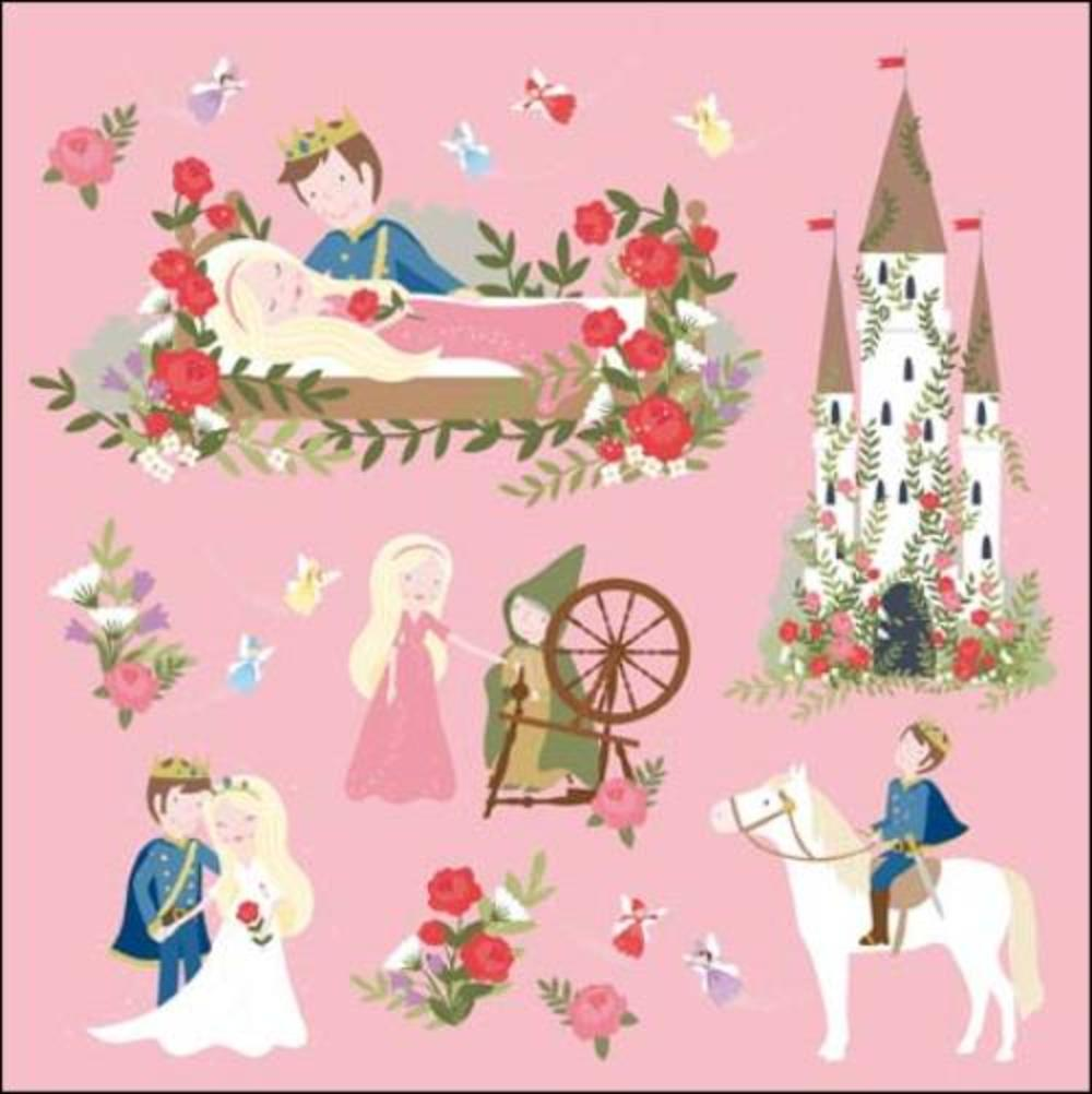 Once Upon A Time Sleeping Beauty Greeting Card