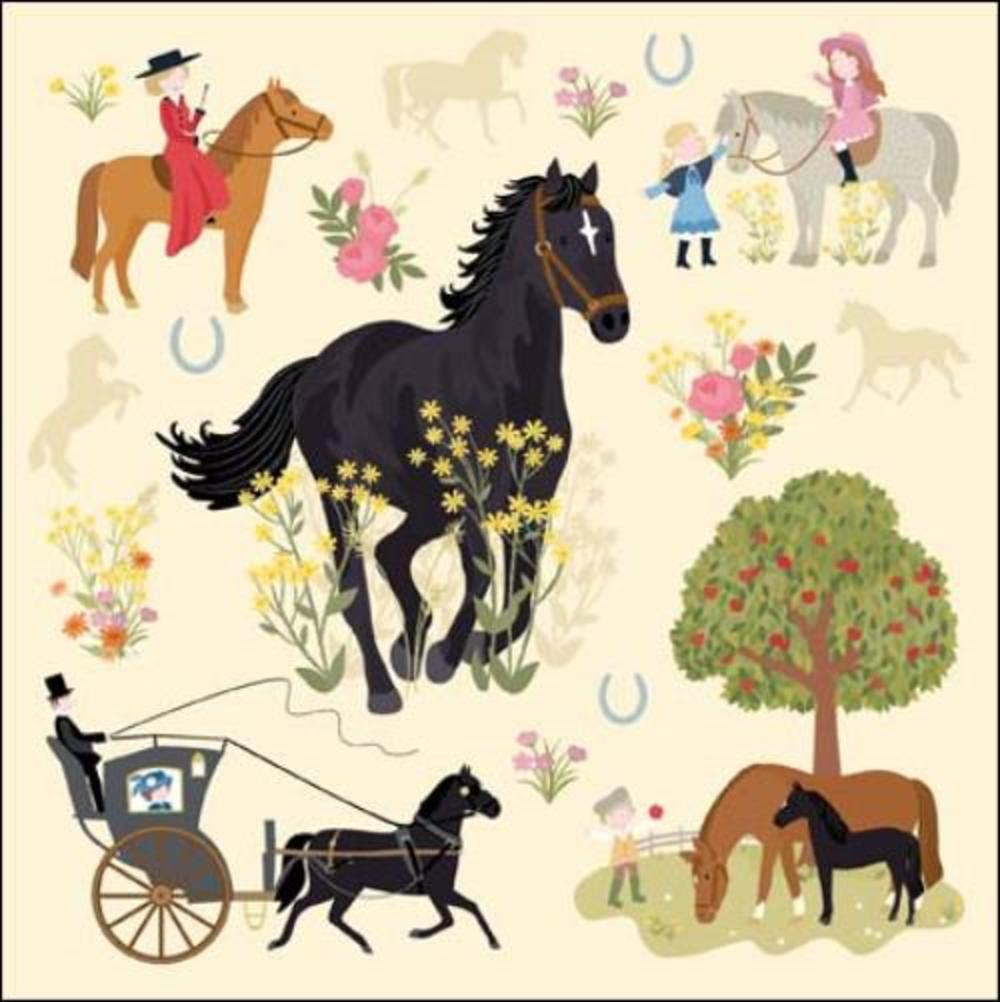 Once Upon A Time Black Beauty Greeting Card