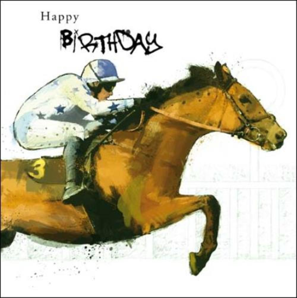 Horse racing birthday greeting card cards love kates horse racing birthday greeting card bookmarktalkfo Image collections