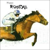 Horse Racing Birthday Greeting Card