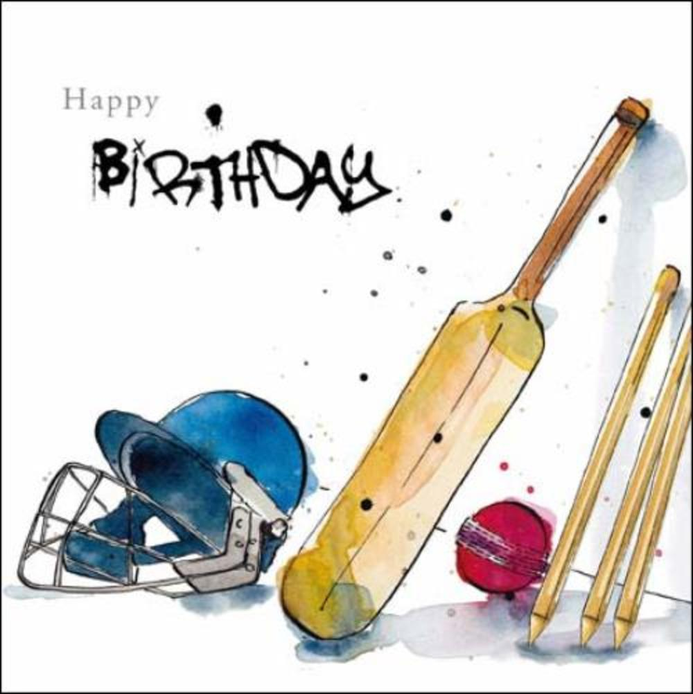 Cricket Fan Birthday Greeting Card