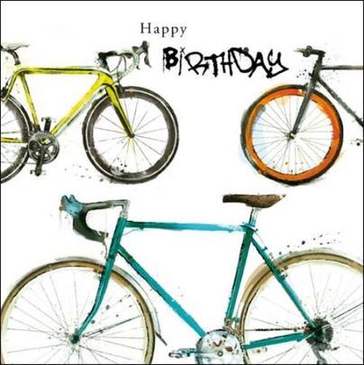 Cyclist Happy Birthday Greeting Card