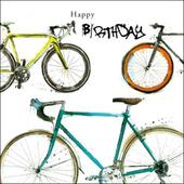 Cyclist Happy Birthday Greeting Card
