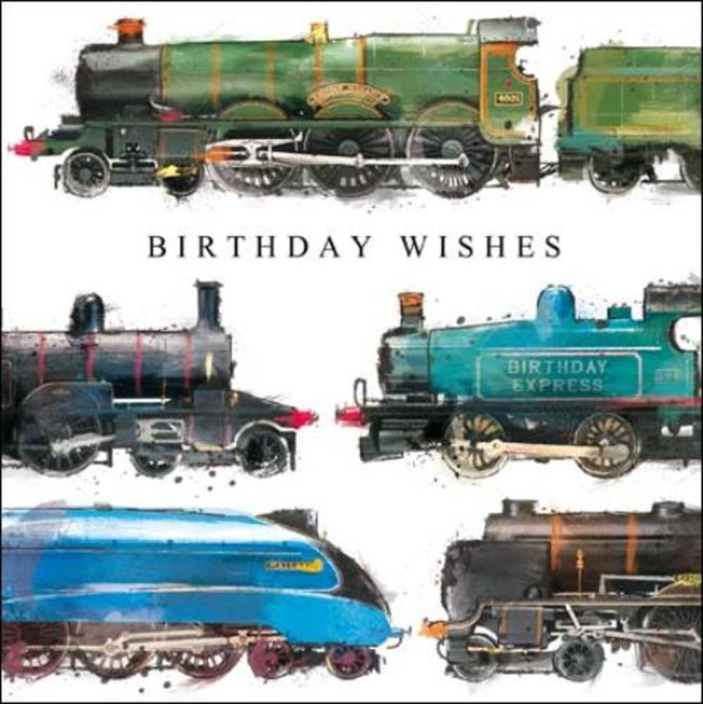 Railway Fan Birthday Greeting Card