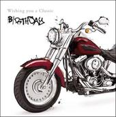 Motorbiker Birthday Greeting Card