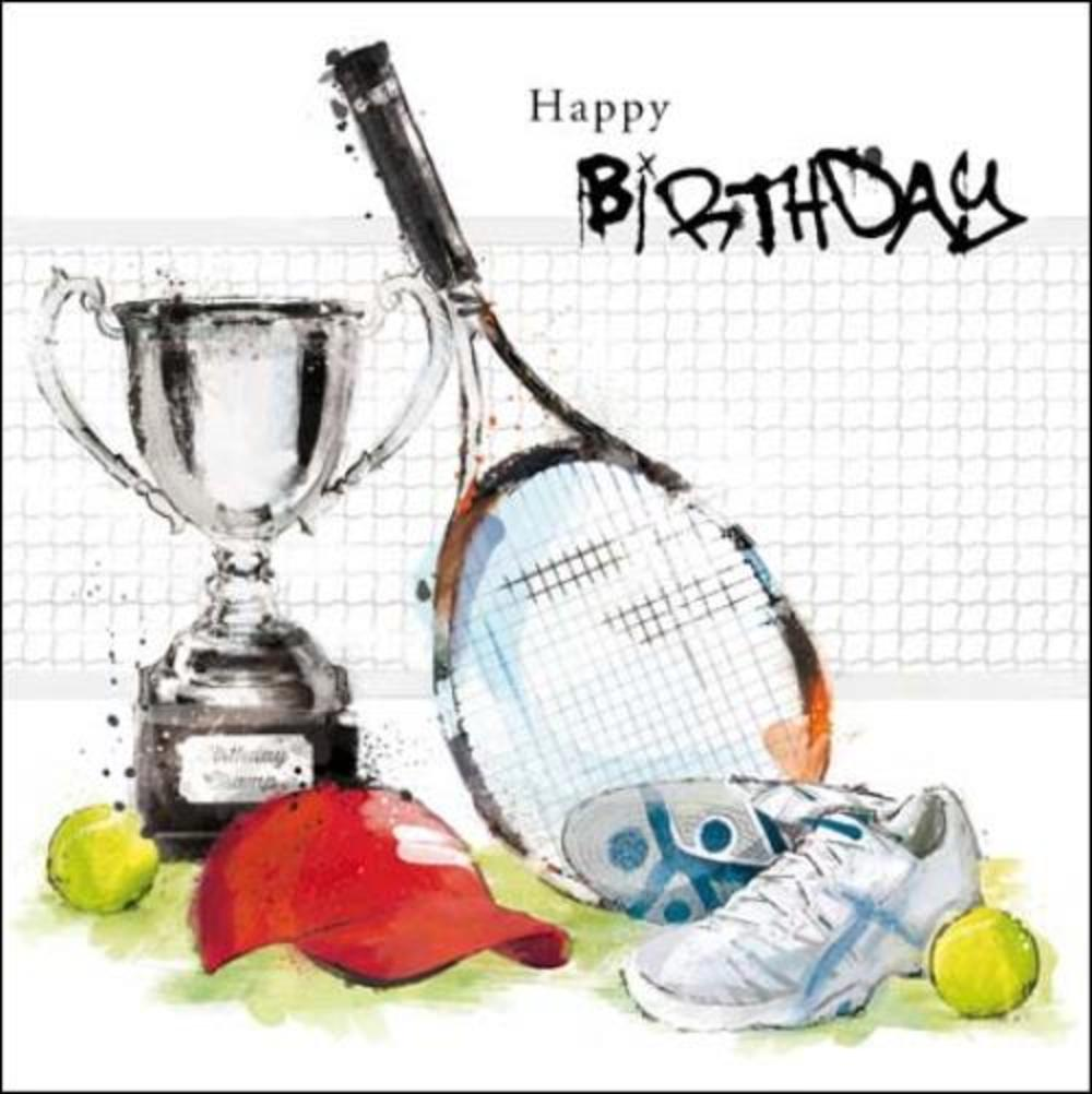 Tennis Fan Birthday Greeting Card