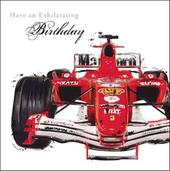 Racing Car Birthday Greeting Card