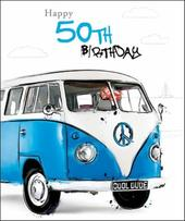 Male 50th Birthday Greeting Card
