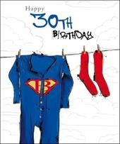 Male 30th Birthday Greeting Card