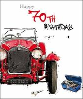 Male 70th Birthday Greeting Card
