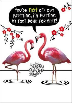 I'm Putting My Foot Down Birthday Funny Birthday Card