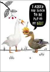 Put Lunch On My Bill Birthday Funny Birthday Card