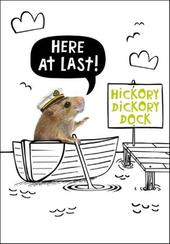 Hickory Dickory Dock Birthday Funny Birthday Card