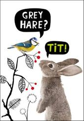 Grey Hare? Tit! Birthday Funny Birthday Card