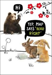 Map Says Bear Right Birthday Funny Birthday Card