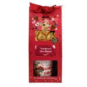 Boofle Gorgeous Girlfriend Mug, Socks & Chocs Gift Set