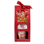 Boofle Best Wife Mug, Socks & Chocs Gift Set In A Gift Box