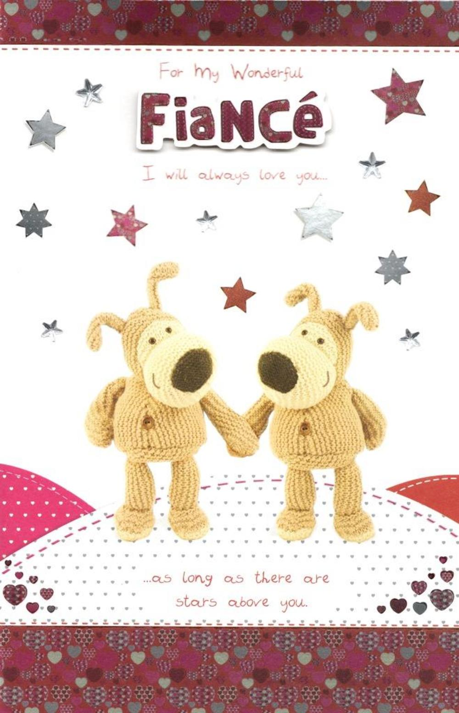 Boofle Wonderful Fiance Valentine's Day Card
