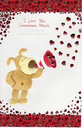 Boofle I Love You Sooooo Much Valentine's Day Card