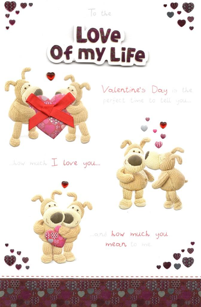 Boofle Love Of My Life Valentine S Day Card Cards