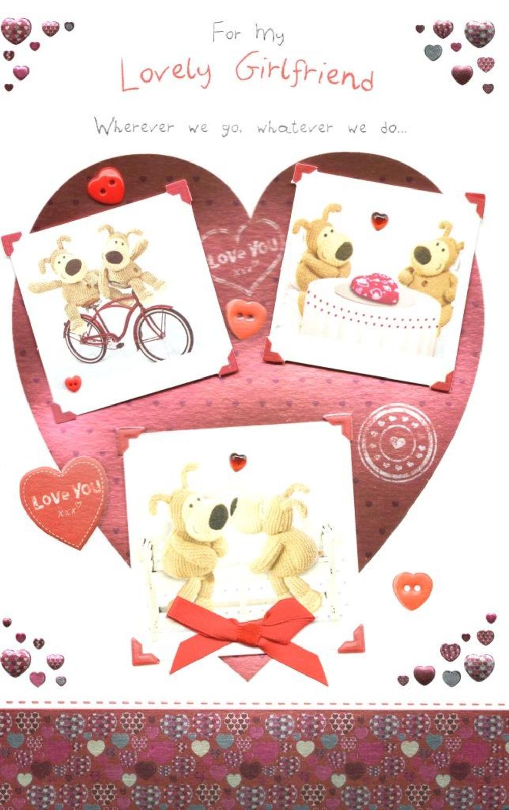 Boofle Lovely Girlfriend Valentine's Day Card