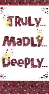 Boofle Truly Madly Deeply Valentine's Day Card