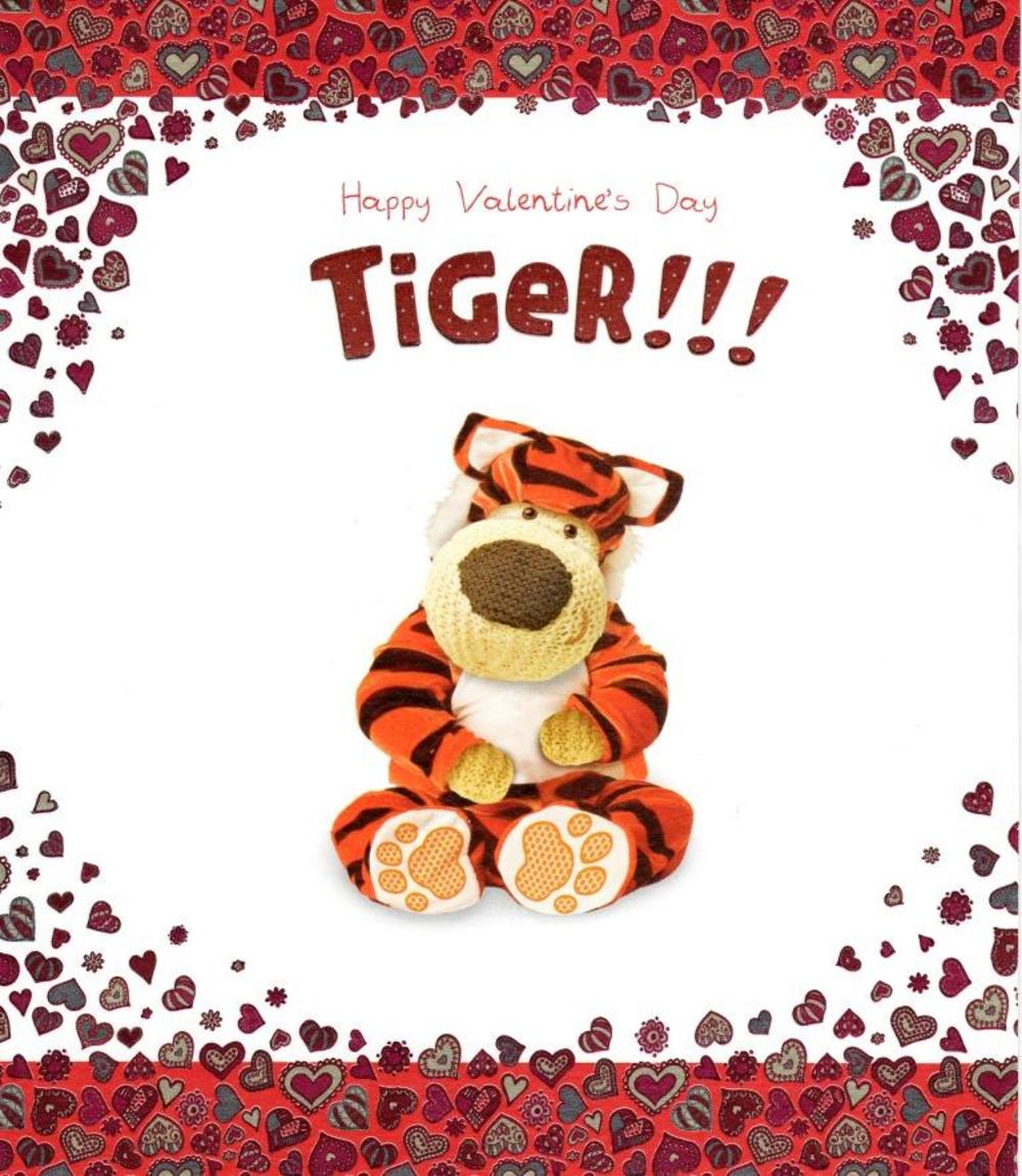 Boofle Happy Valentine's Day Tiger! Card Cute Valentines Greeting Cards