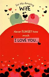 Amazing Wife Cute Valentine's Day Greeting Card
