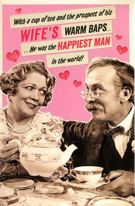 Funny Wife's Nice Baps Valentine's Day Greeting Card