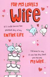 To My Lovely Wife Valentine's Day Greeting Card