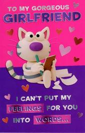 Funny Gorgeous Girlfriend Valentine's Day Greeting Card