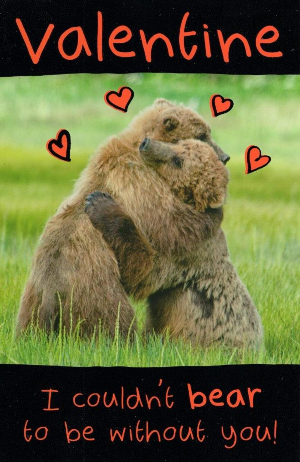 Funny Be My Honey Bear Valentine's Day Greeting Card