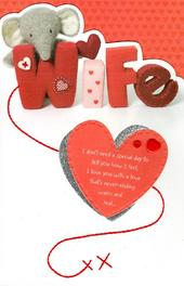 Elliot & Buttons Wife Valentine's Day Greeting Card