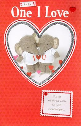 Elliot & Buttons One I Love Valentine's Day Greeting Card