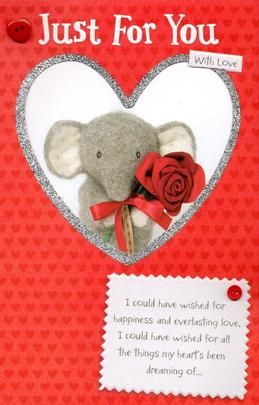 Elliot & Buttons Just For You Valentine's Day Greeting Card