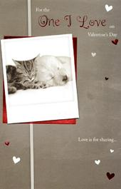 One I Love Cute Valentine's Day Greeting Card