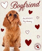 Boyfriend Cute Puppy Dog Valentine's Day Greeting Card