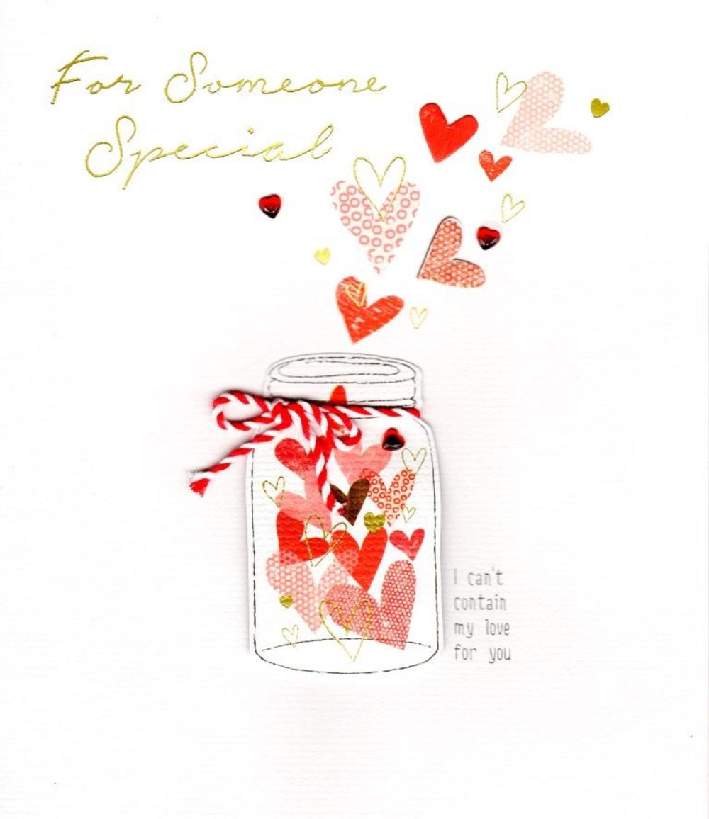 Someone Special Embellished Valentine's Day Greeting Card