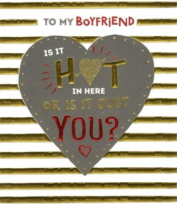 To My Hot Boyfriend Valentine's Day Greeting Card