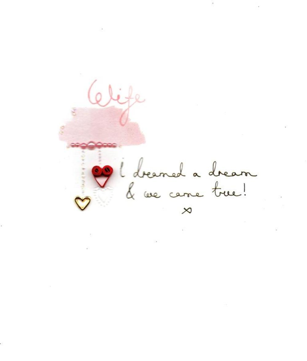 Wife I Dreamed A Dream Valentine's Day Card
