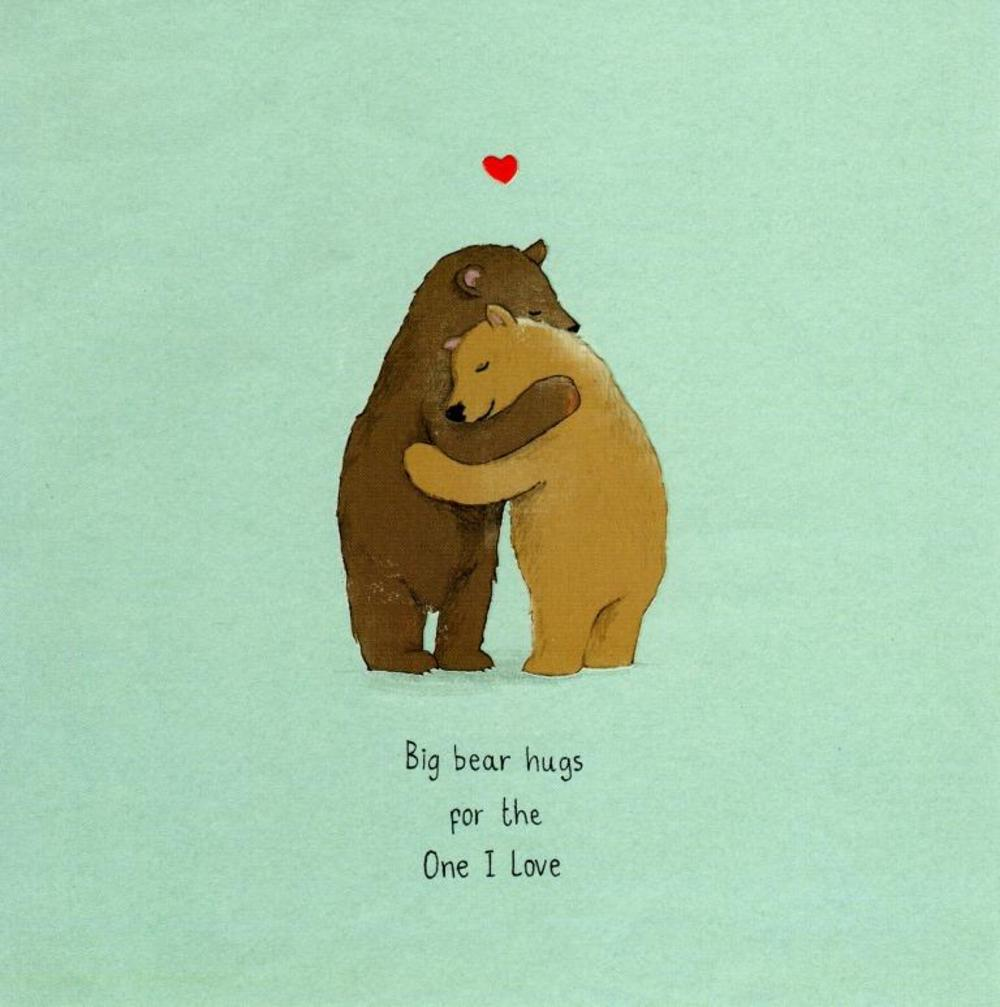 Bear Hugs For The One I Love Valentine's Day Card