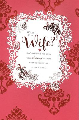 What Is A Wife? Embelished Valentine's Day Greeting Card