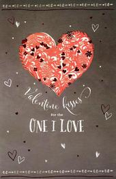 One I Love Embelished Valentine's Day Greeting Card