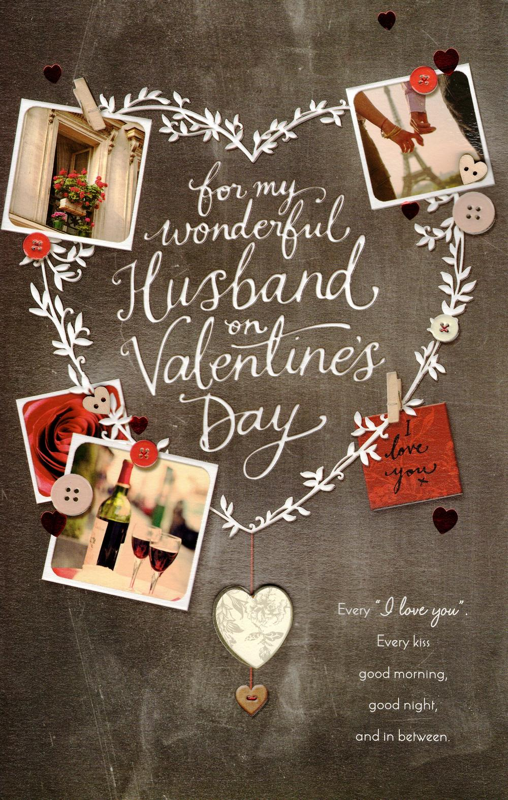 Wonderful Husband Large Embelished Valentines Day Card Cards