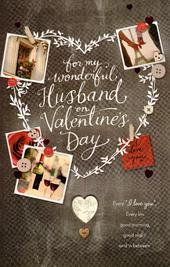 Wonderful Husband Large Embelished Valentine's Day Card
