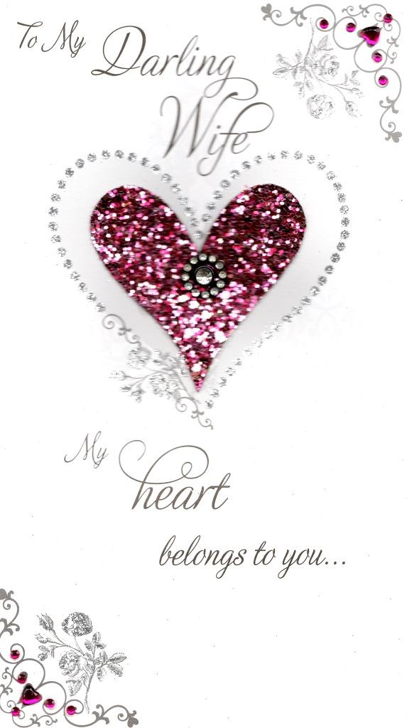 My Darling Wife Champagne Valentines Day Card Cards – Valentine Day Cards for Wife